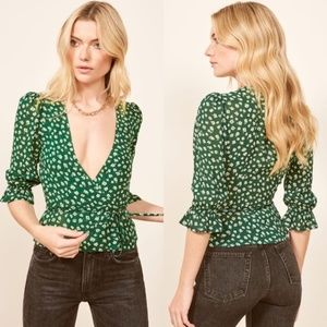 NWT Reformation Emma Wrap Blouse